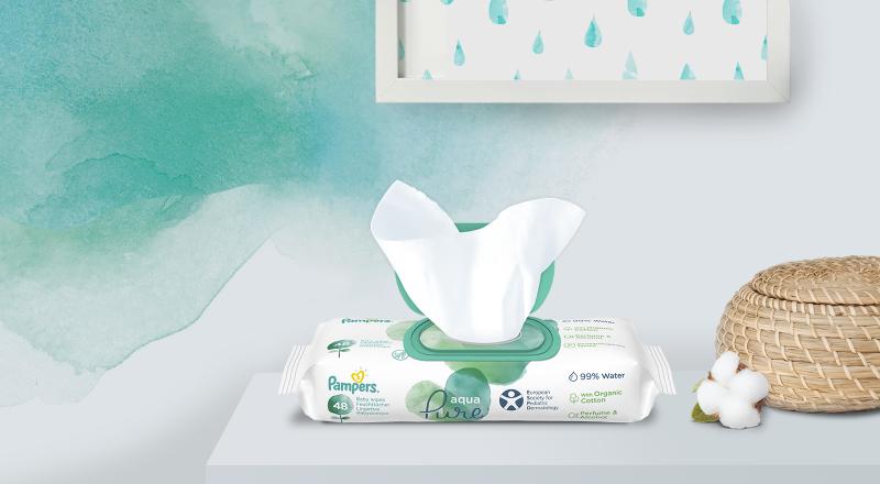 Дитячі вологі серветки Pampers® Aqua Pure