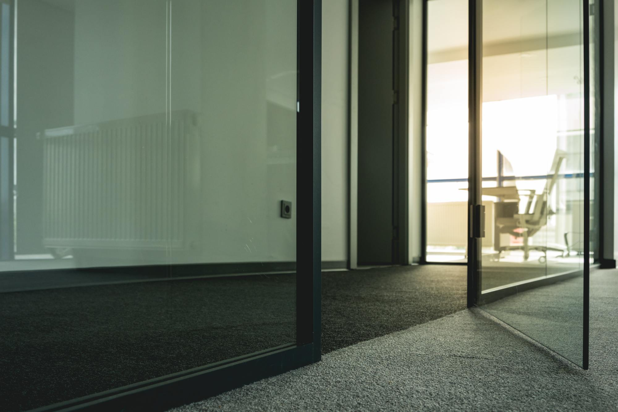 Opened door of an Office