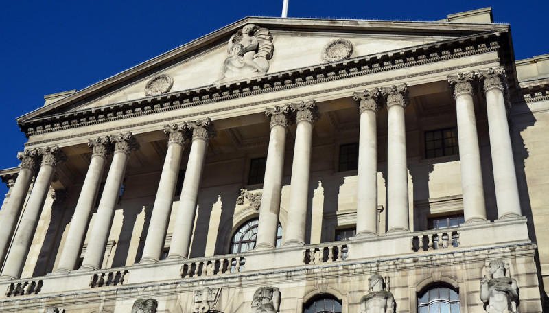 Looking Up At The Bank Of England
