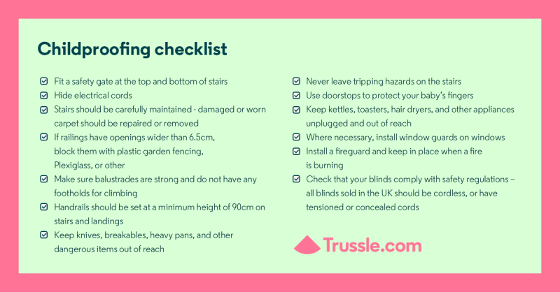 Childproofing checklist to baby-proof your home and keep your child safe