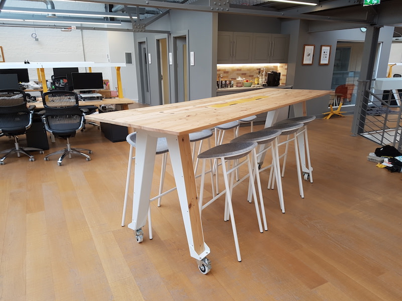 Etsy London HQ meeting table designed by Jam