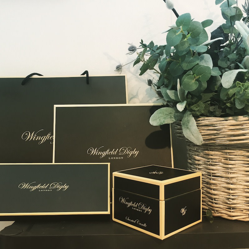 Boxes of Wingfield Digby products