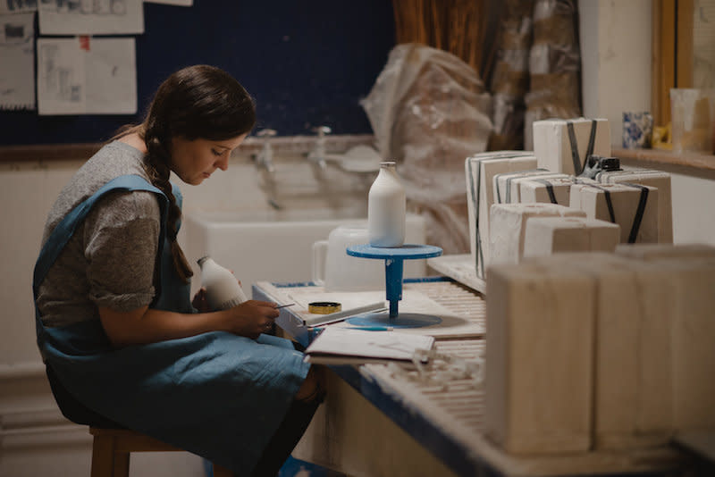 Rebecca Killen Creating One Of Her Ceramic Bottles