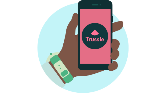 Trussle holding phone icon