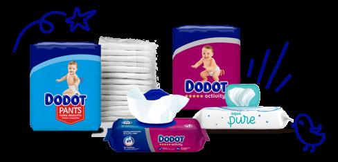 Pañales, ropa interior y toallitas para bebés