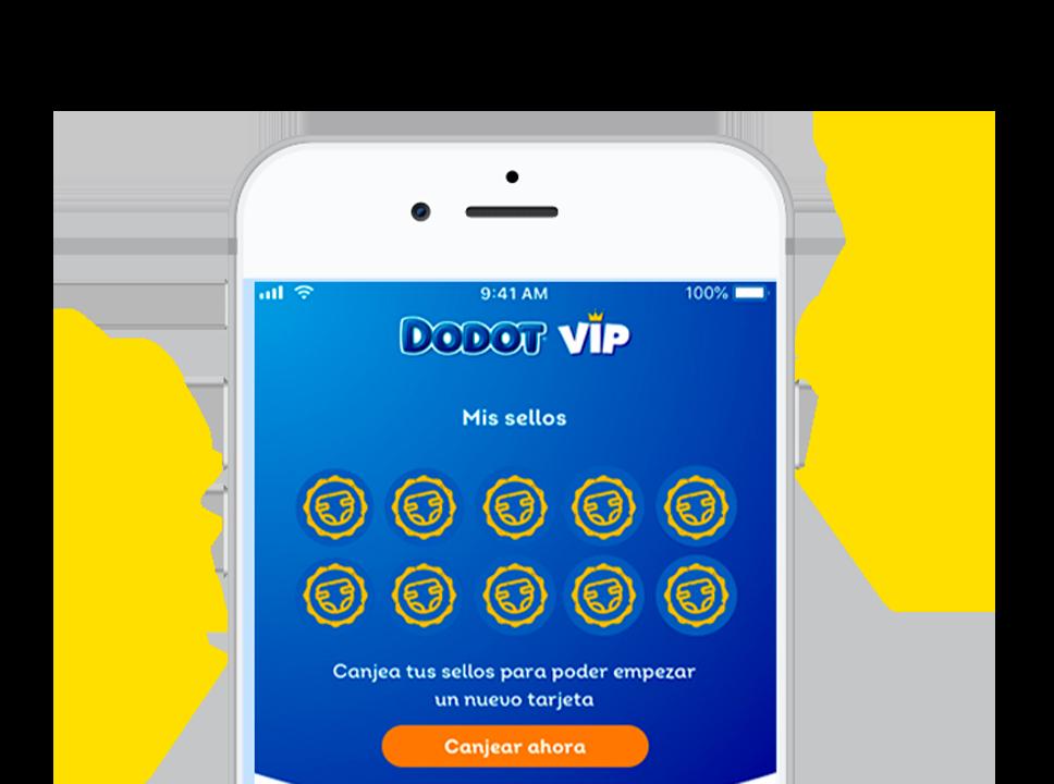 Descárgate la APP de DODOT VIP y gana pañales gratis