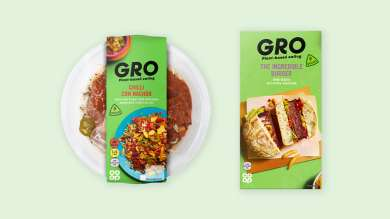 Gro plant-based product range - packshoot 2021