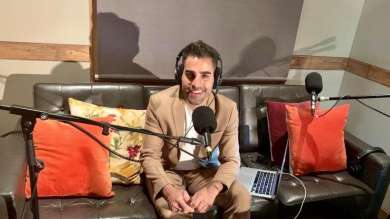 Dr Ranj in studio with Co-op Health