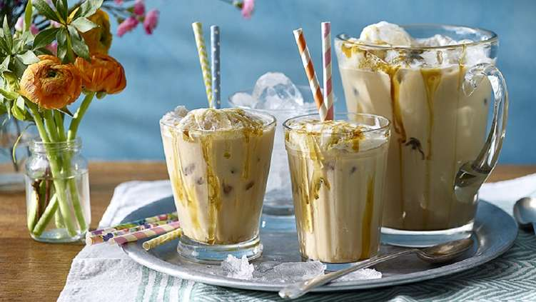 Coconut caramel iced coffee