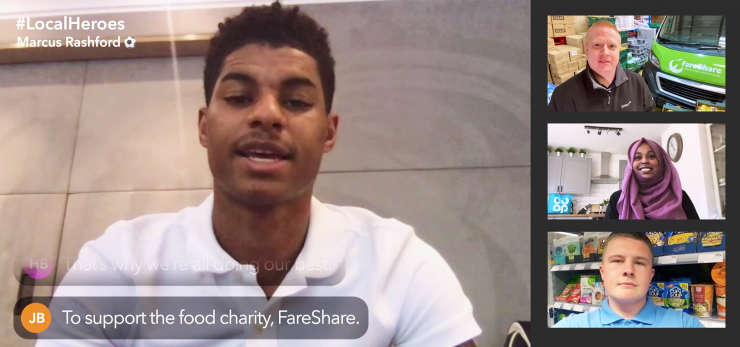 Marcus Rashford-Co-op fareshare