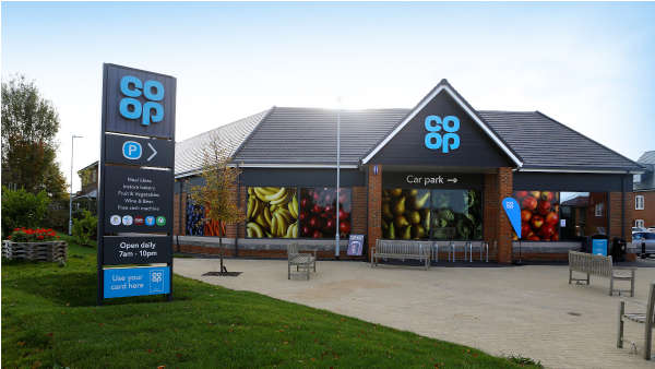 Exterior of a Co-op food store in Harrietsham
