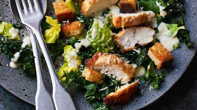 Food planner - Jan 2021 hero. Winter Caesar salad with chicken