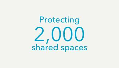 Protecting 2000 shared spaces