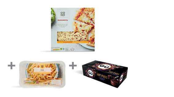 Pick up pizza, side and pudding for just £5