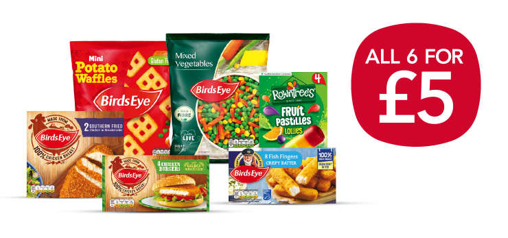 Fill your freezer with 6 favourites for £5