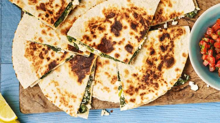 Spanakopita quesadillas recipe