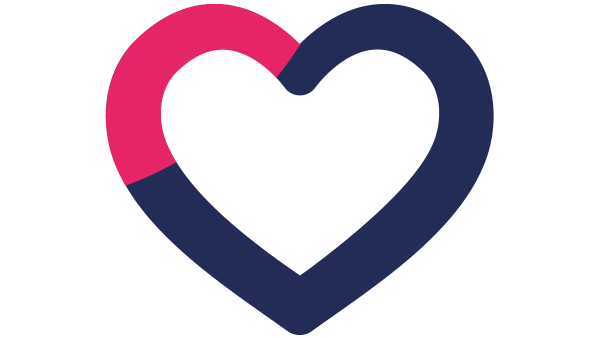 blue heart shaped logo