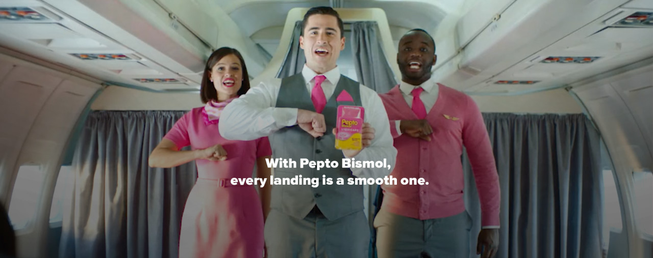 With Pepto Bismol, every landing is a smooth one