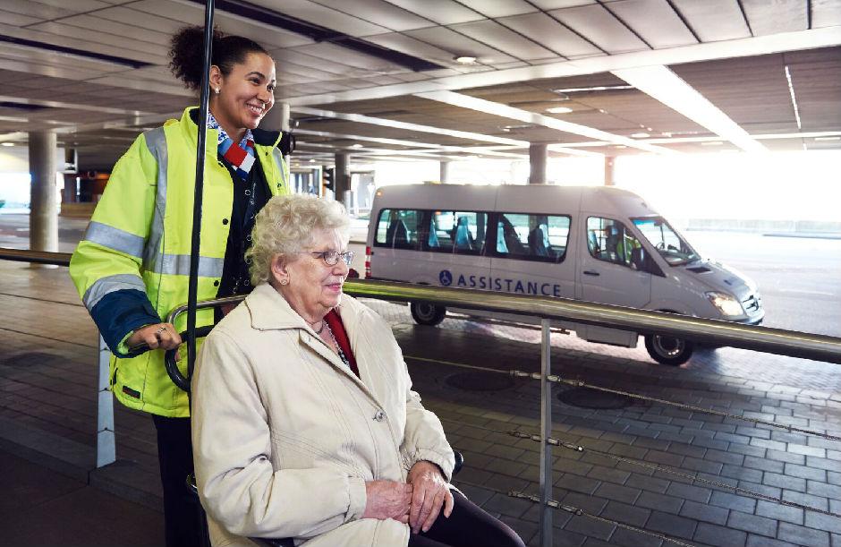 Extra assistentie - met je rolstoel naar de gate