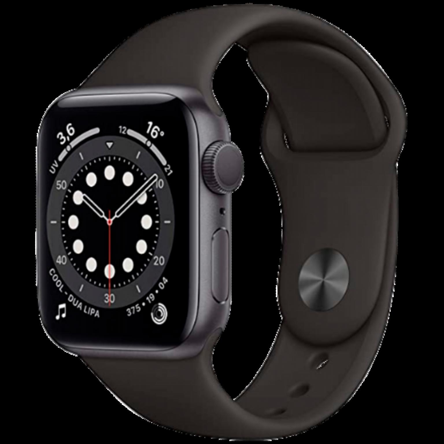 Apple Watch Series 6 40mm Space Grey ALU Black Sportband