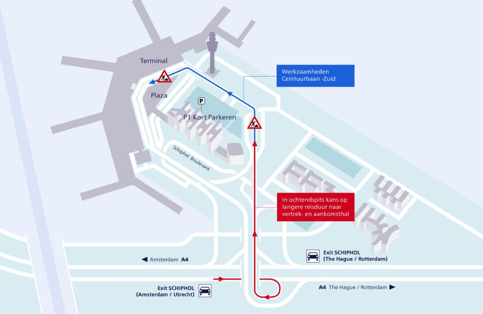 Schiphol Road Works Till November 15th Take Into Account Extra