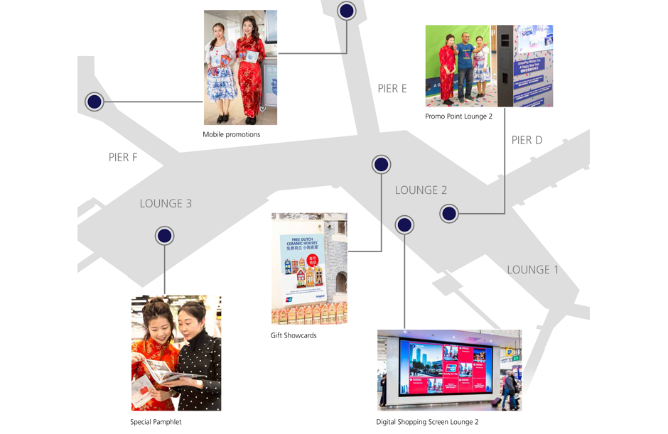 plattegrond advertising case Union Pay
