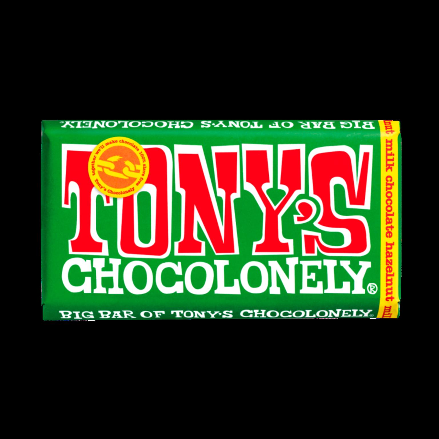 Tony's Chocolonely Milk Hazelnut Chocolate Bar -240gram