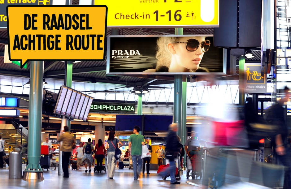 De raadsel Achtige route - Dagje Schiphol