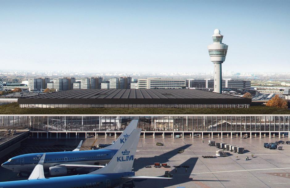 KAAN Architecten de nieuwe terminal van Schiphol