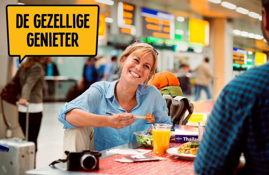 De gezellige genieter - Dagje Schiphol