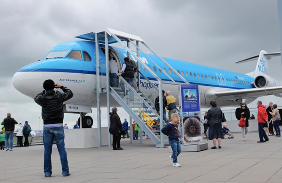 Panorama terrace Fokker Experience Schiphol