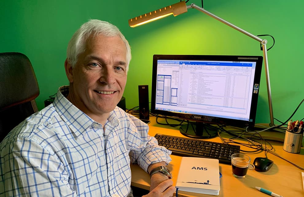 Wilco Sweijen, Director Route and Business Development, working from home
