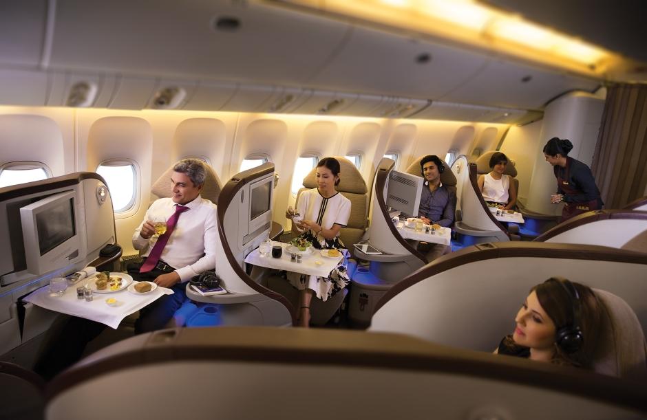 Luxury Jet Airways flight