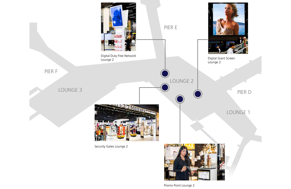 Advertising case Dior plattegrond