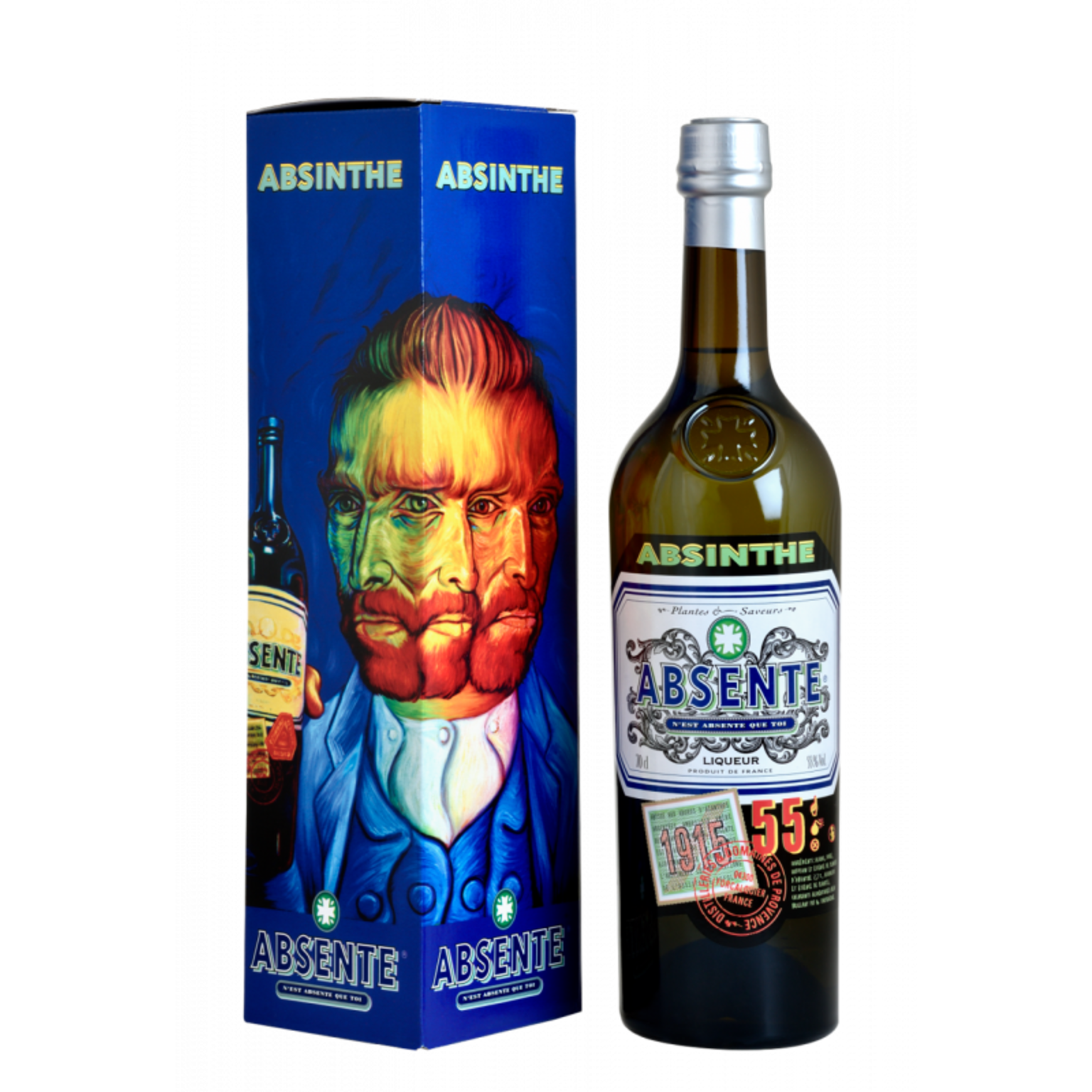 Absente 55% 0.7L, gift box