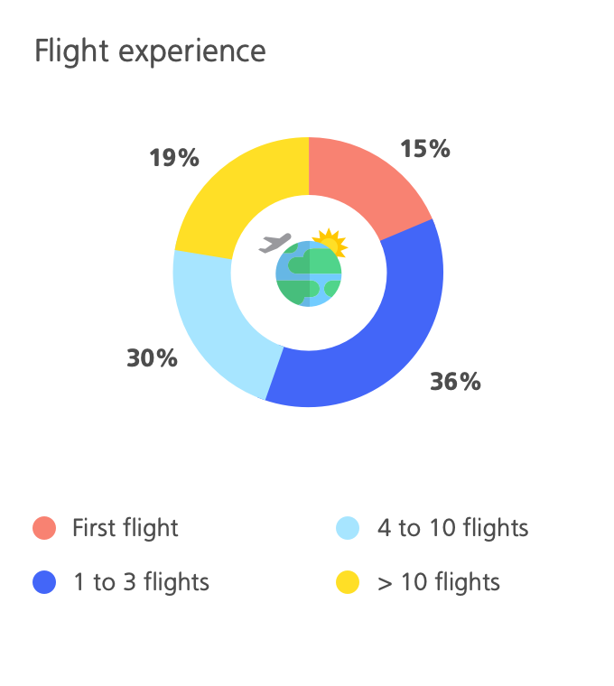 Infographic flight experience