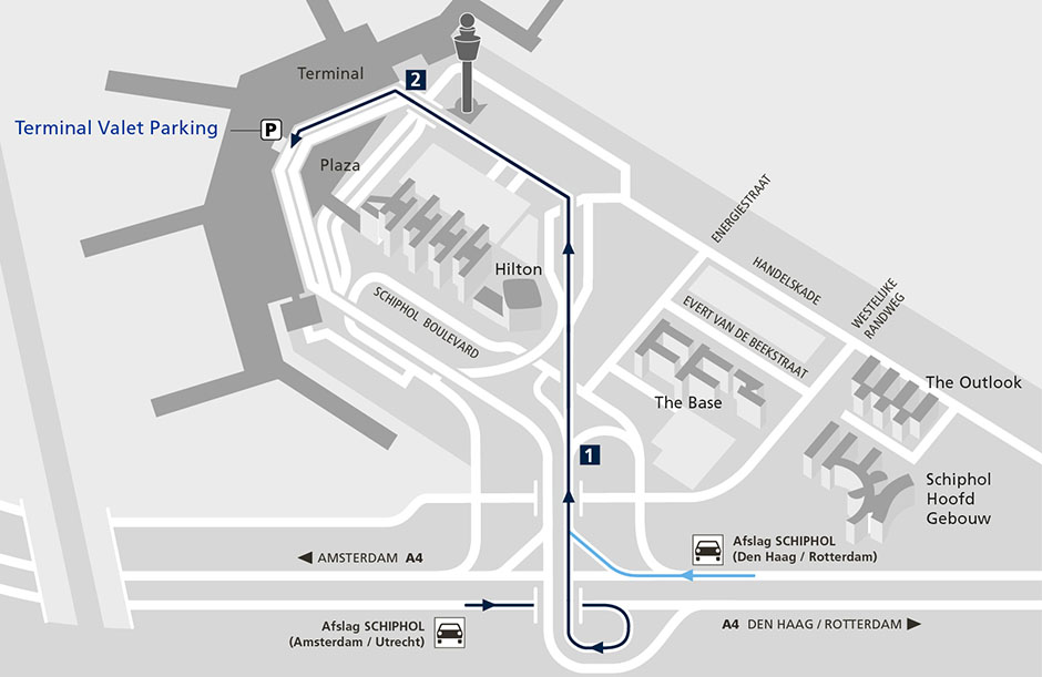 How to get to Terminal Valet Parking