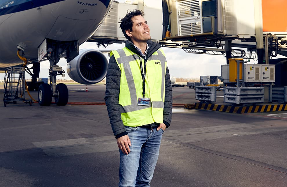 Oscar Maan, innovatiemanager ASM, Schiphol