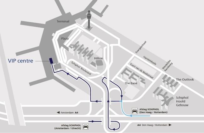 Route VIP-centre