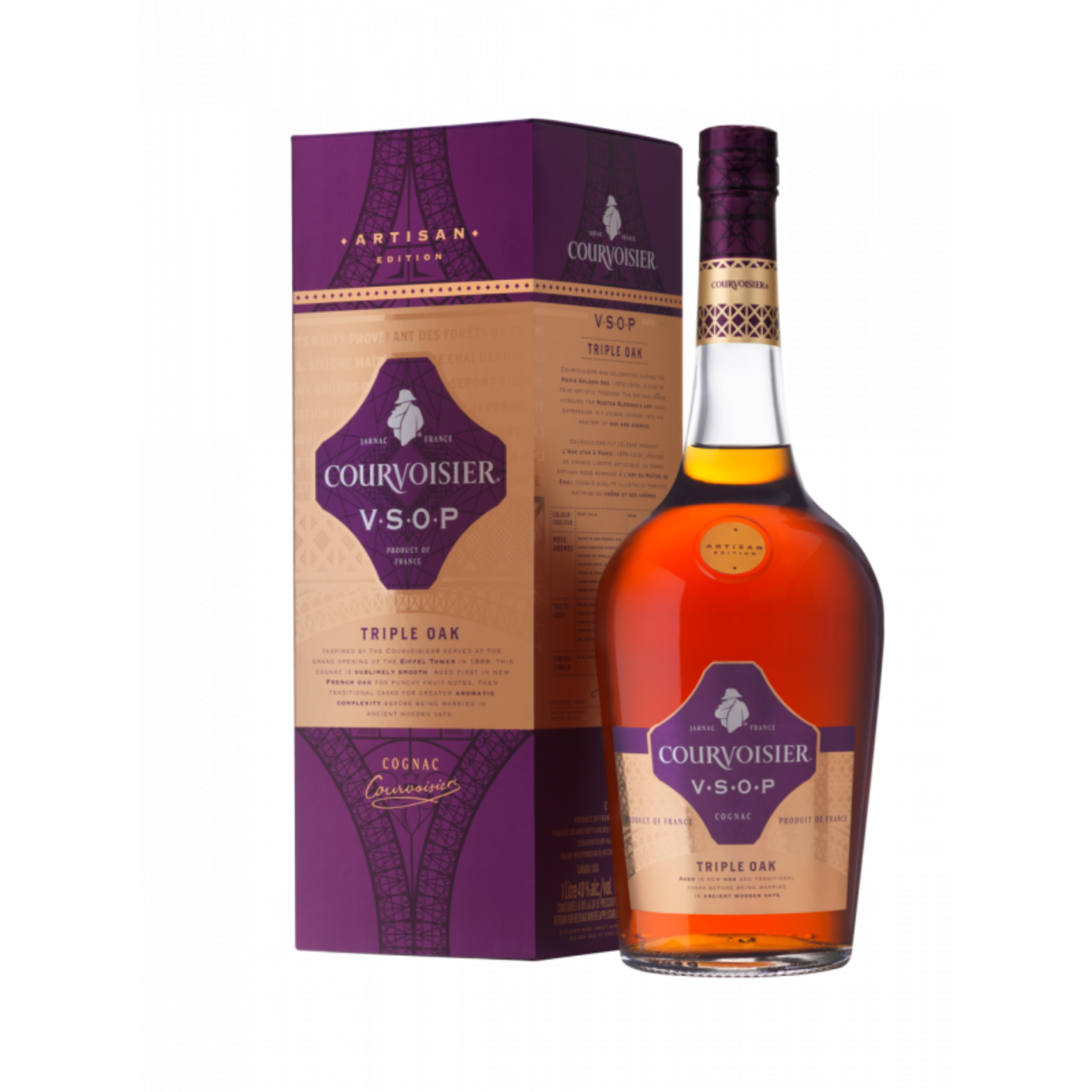 Courvoisier Artisan VSOP Triple Oak 40% 1L Giftpack
