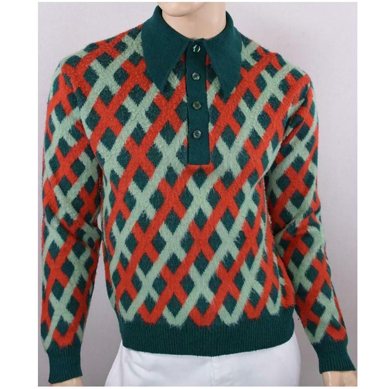 ebay vintage mod 70s polo suéter