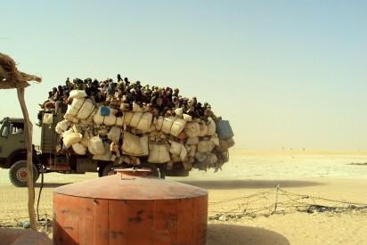 Arrival of migrants coming from Libya entering in Dirkou