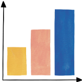 Illustration of colored bar graph