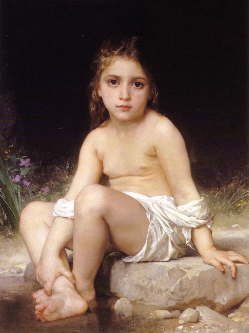 William-Adolphe Bouguereau (1825-1905) - Child at Bath (1886)