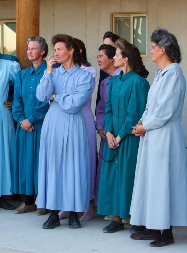 mormon wives in blue