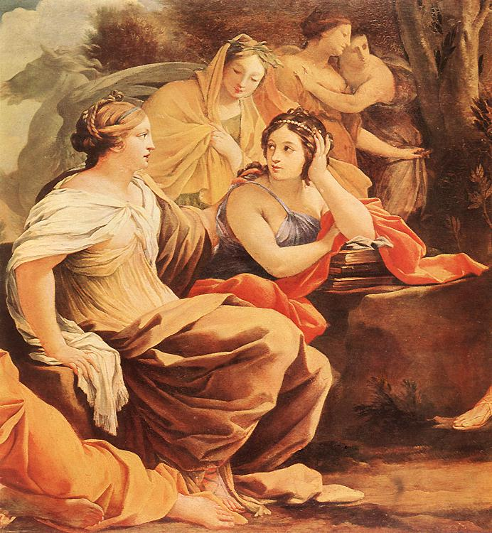 Simon Vouet - Parnassus or Apollo and the Muses (detail) - WGA25374
