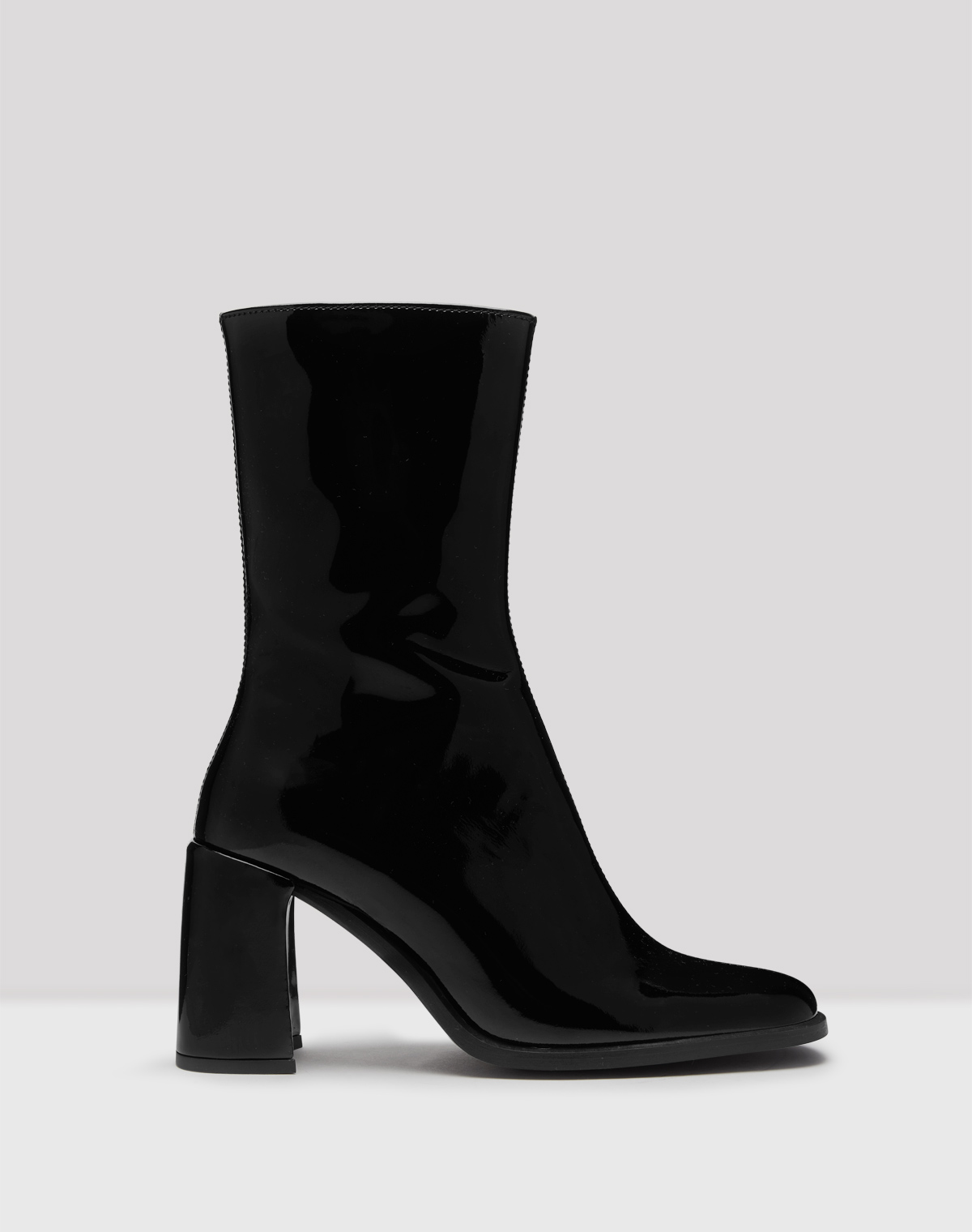 Asta Black Patent Leather Boots // E8