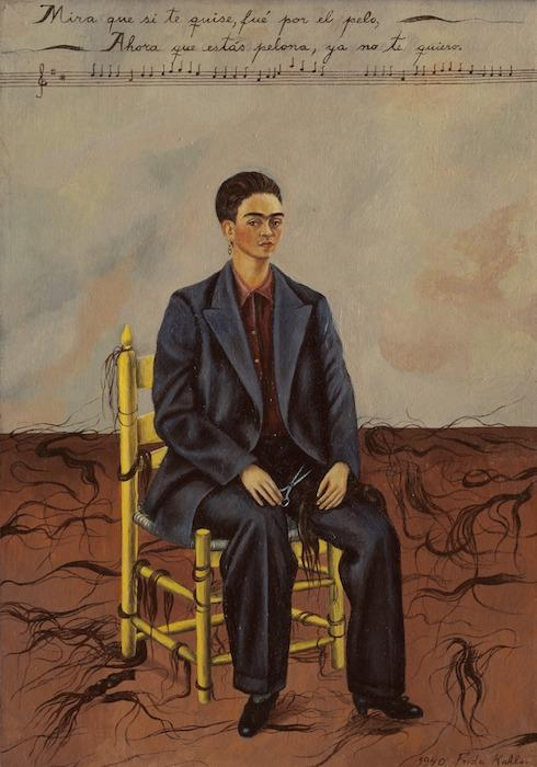 Frida Kahlo Self Portrait with Cropped Hair 1941
