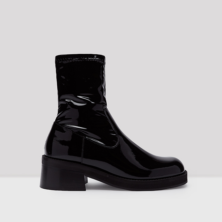 Thea Black Leather Boots // E8 by
