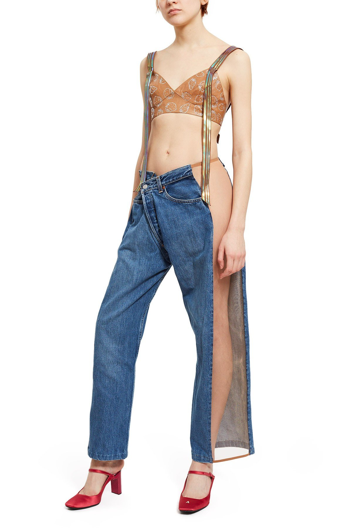 bless jeans mesh